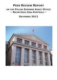 NIK peer review report - Najwyższa Izba Kontroli