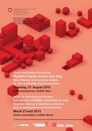 Forum Nachhaltige Entwicklung 27-08-2013 - BPUK