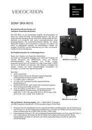 SONY SRX-R515 - Videocation