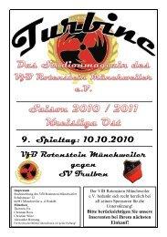 Stadionmagazin 06/2010 Turbine - SV Trulben - VfB Rotenstein ...
