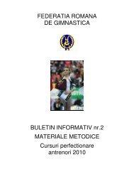 FEDERATIA ROMANA DE GIMNASTICA BULETIN INFORMATIV nr ...