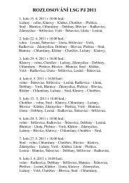 ROZLOSOVÁNÍ LSG PJ 2011 - Info Blovice