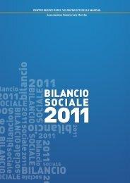 Bilancio Sociale 2011 - CSV Marche
