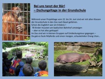 im Basler Zoo - Paula Fürst Schule