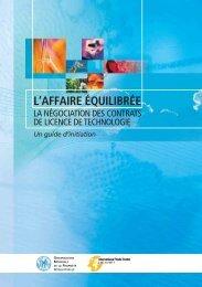 L'AFFAIRE ÉQUILIBRÉE - World Intellectual Property Organization