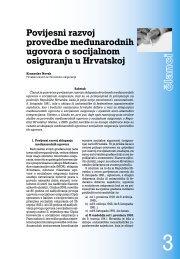 Povijesni razvoj provedbe međunarodnih ugovora o socijalnom ...