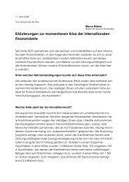 Erläuterungen zur momentanen Krise der ... - Marco Bülow