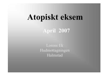 Atopiskt eksem - överläkare Lorens Eks föreläsning - Region Halland