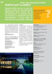 WIRTSCHAFT & ARBEIT 12 - Stadt Coburg