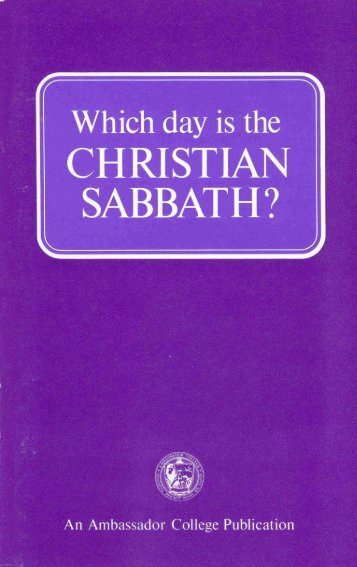 Which Day is the Christian Sabbath? - Heartsofthefathers.org
