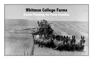 Whitman College Farms