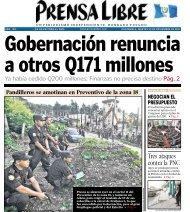 Tres ataques contra la PNC - Prensa Libre