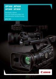 Die Camcorder der XF100-serie - Brochures - Canon Europe