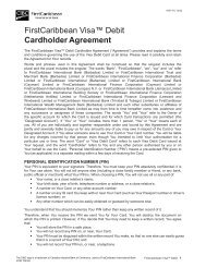 FirstCaribbean Visa™ Debit Cardholder Agreement