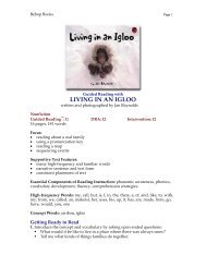 Guided Reading with LIVING IN AN IGLOO - Lee & Low Books