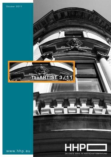 TaxARTIST 3/11 - HHP - Hammerschmied Hohenegger und Partner