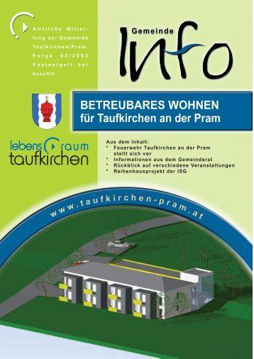 Gemeinde Info Folge 3/2005 - Taufkirchen an der Pram