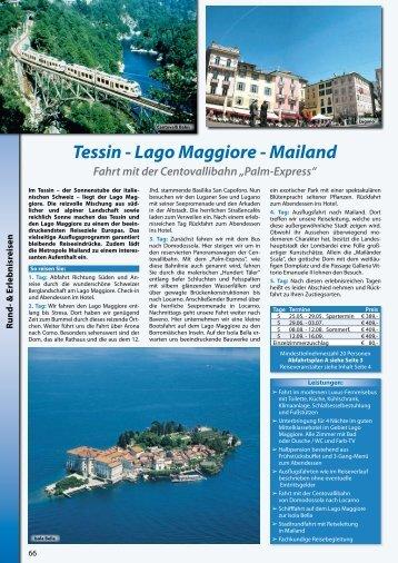 Tessin - Lago Maggiore - Mailand