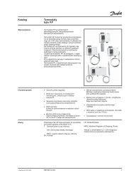 Katalog Termostaty typu KP - hapka