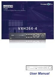 User Manual VXH264-4 - Astra Security Systems Ltd