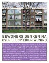 Bewoners deken na over sloop eigen woning (pdf ... - Kennisbank