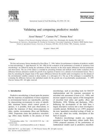 Validating and comparing predictive models