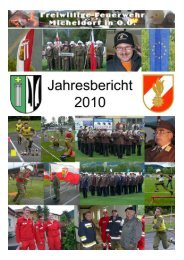 !!Jahresbericht 2010 - Freiwillige Feuerwehr Micheldorf in OÖ