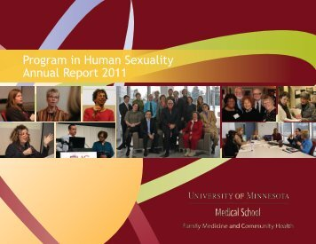 PHS Annual Report 2011 - Program in Human Sexuality - University ...