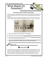 What Makes Us Canadian? - Archives Society of Alberta