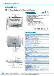 "ONYX-BE180 18.5"" Atom Bedside Infotainment ... - Sensor Medical"