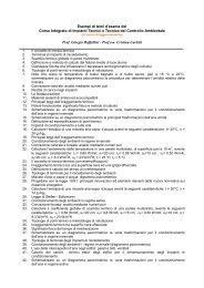 Selezione di testi di esame del Corso Integrato di Impianti Tecnici e ...