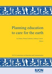 Planning education to care for the earth - IUCN Knowledge Network