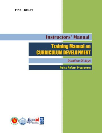 Manual on Curriculum Development (English) - Police Reform ...