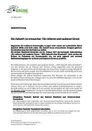Für sicheren und sauberen Strom - Grüne Baselland