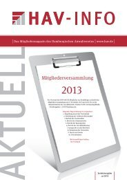 Sonderheft 10/2013 - Hamburgischer Anwaltverein e.V.
