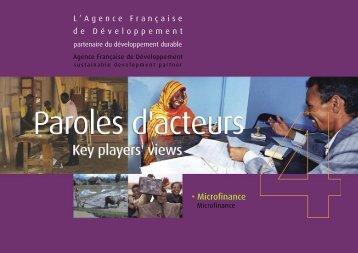 Paroles d'Acteurs N°4 - Agence Française de Développement
