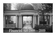 Financial Aid Reminder Postcard | GCSU