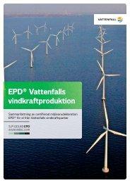EPD® Vattenfalls vindkraftproduktion