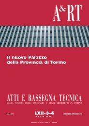 Il nuovo Palazzo della Provincia di Torino - Società degli Ingegneri e ...