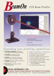 CCD Beam Profiler Expanding your profiling capabilities