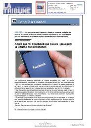Apple qui rit , Facebook qui pleure :pourquoi - L'Atelier