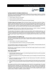 Grohe Warranty Information & Notes - Argent Australia