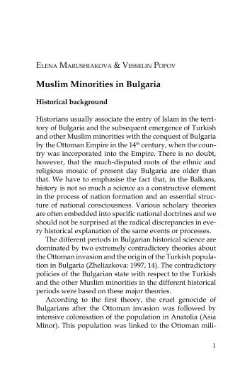 [PDF] Muslim Minorities in Bulgaria - Islam Awareness