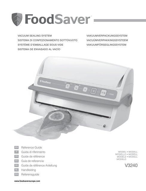 V3240 Le Mode Demploi Foodsaver