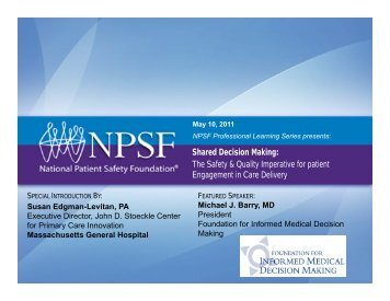 Download PDF - National Patient Safety Foundation