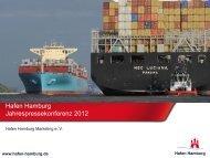 Hafen Hamburg Jahrespressekonferenz 2012