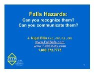 Falls Hazards: - Ellis Fall Safety Solutions