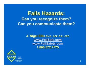 Falls Hazards: - Ellis Fall Safety Solutions