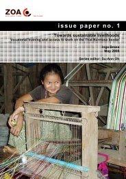 ZOA issue paper no 1 - Online Burma/Myanmar Library