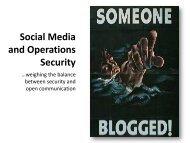 Social Media and Operations Security - Arkansas National Guard
